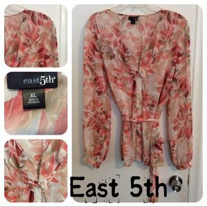 East 5th Floral Ruffled Blouse